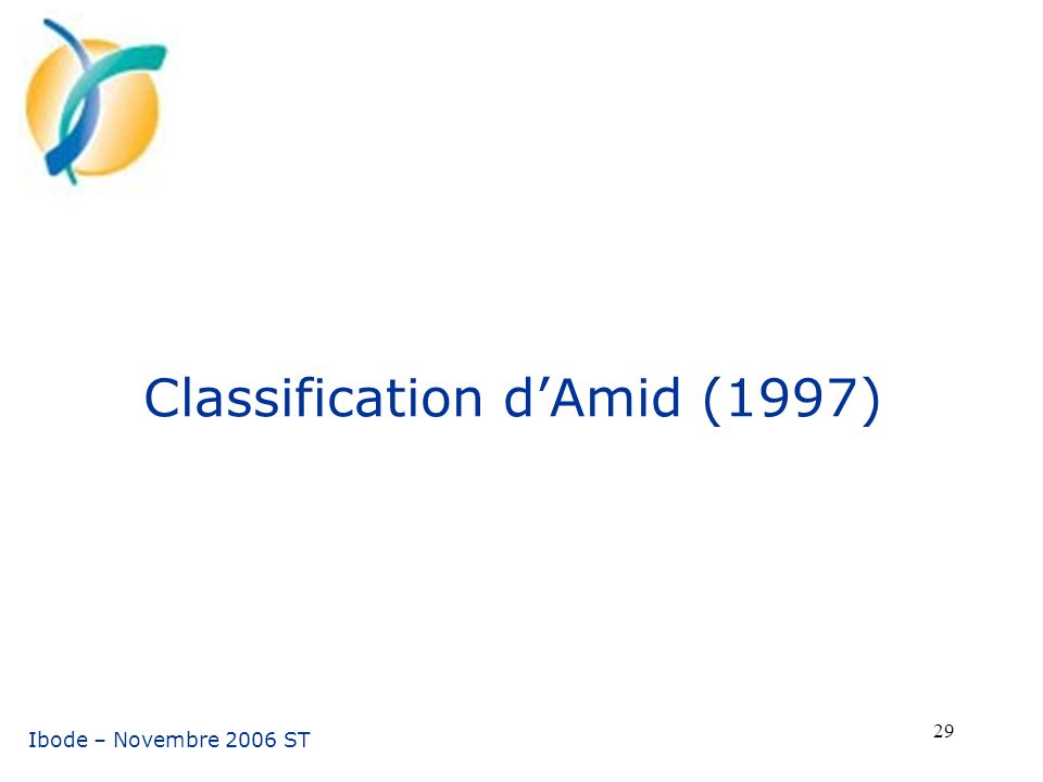 Classification d'Amid (1997)