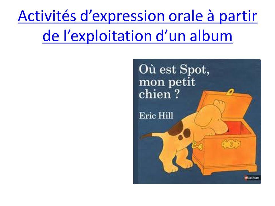 Activités d'expression orale à partir de l'exploitation d'un album