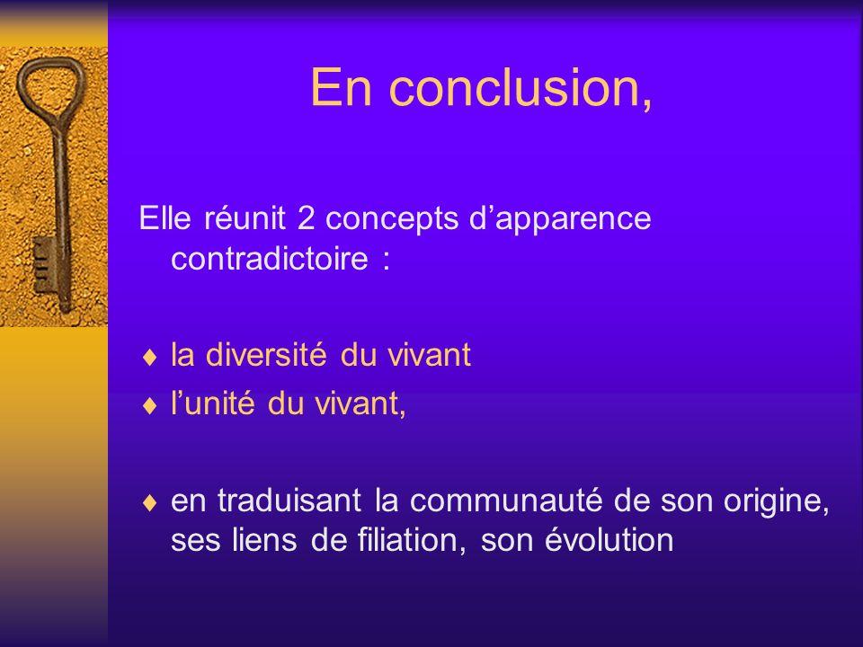 En conclusion, Elle réunit 2 concepts d'apparence contradictoire :