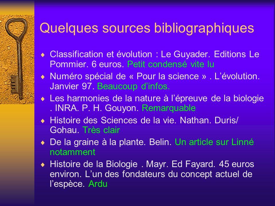 Quelques sources bibliographiques