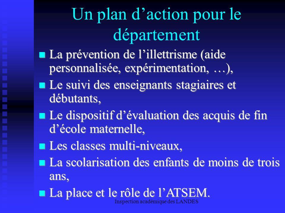 Un plan d'action pour le département
