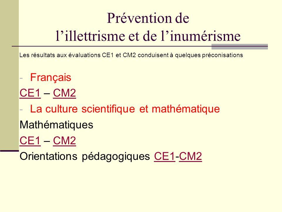 Prévention de l'illettrisme et de l'inumérisme