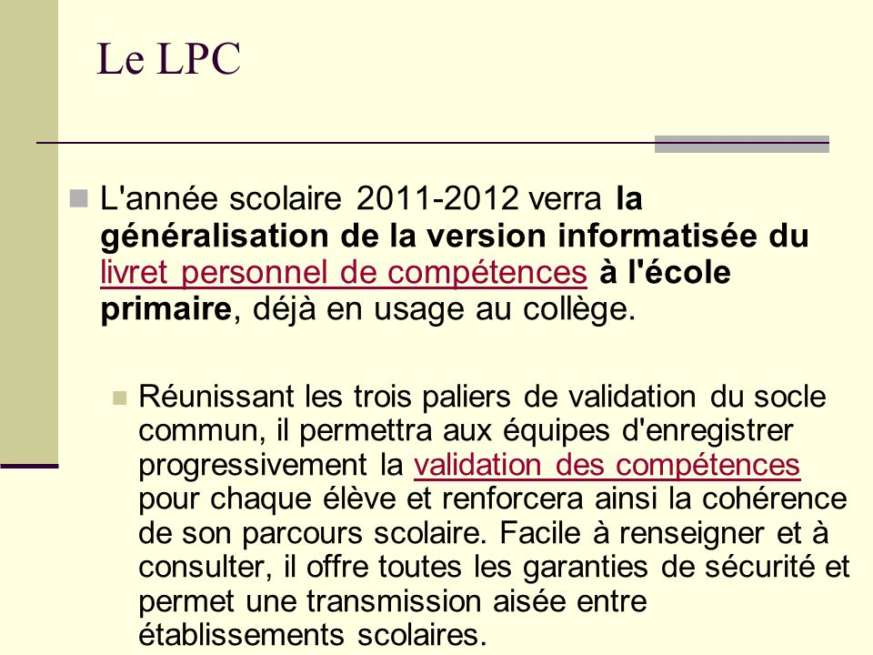 Le LPC