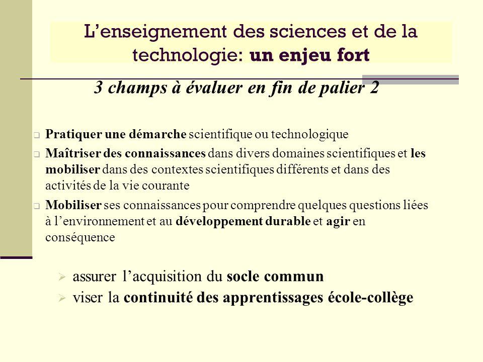 L'enseignement des sciences et de la technologie: un enjeu fort