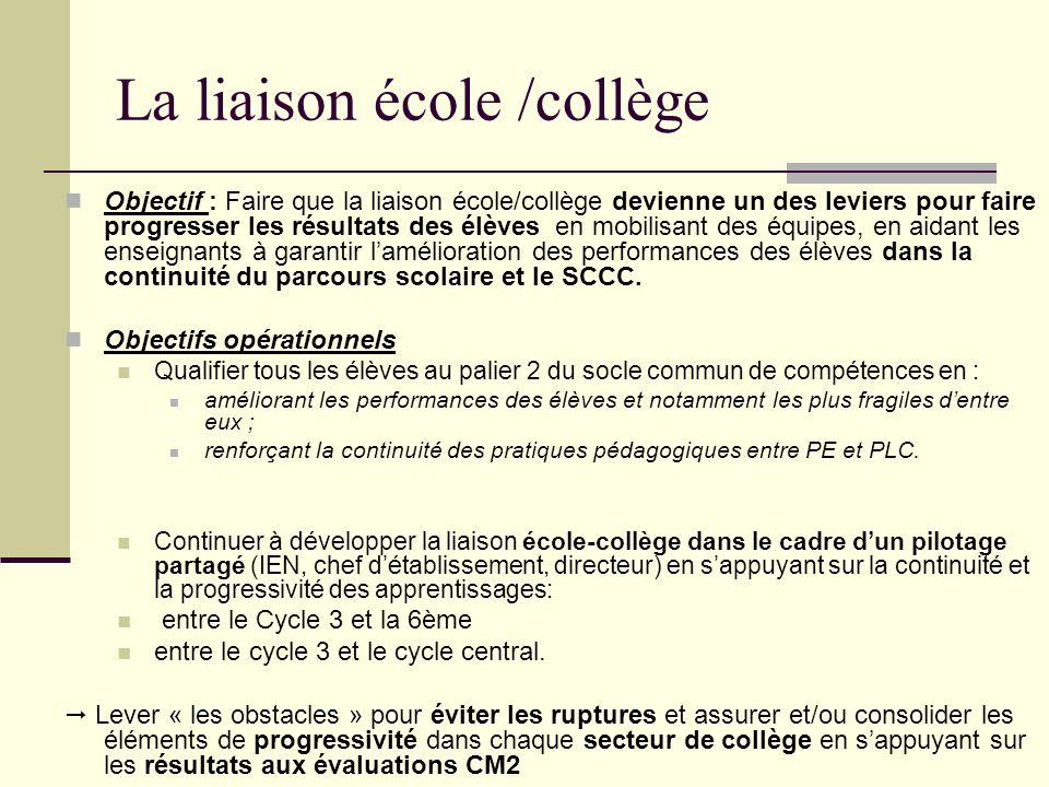La liaison école /collège