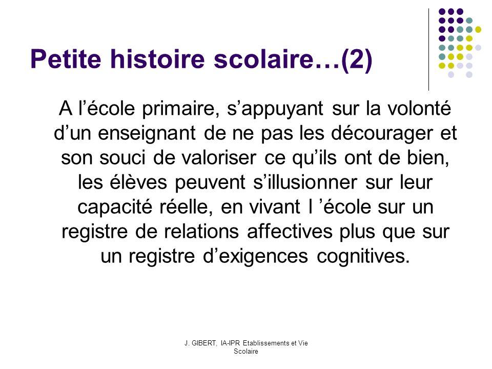 Petite histoire scolaire…(2)