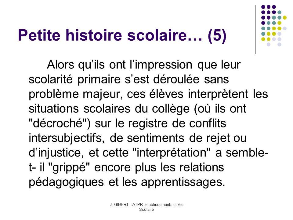 Petite histoire scolaire… (5)