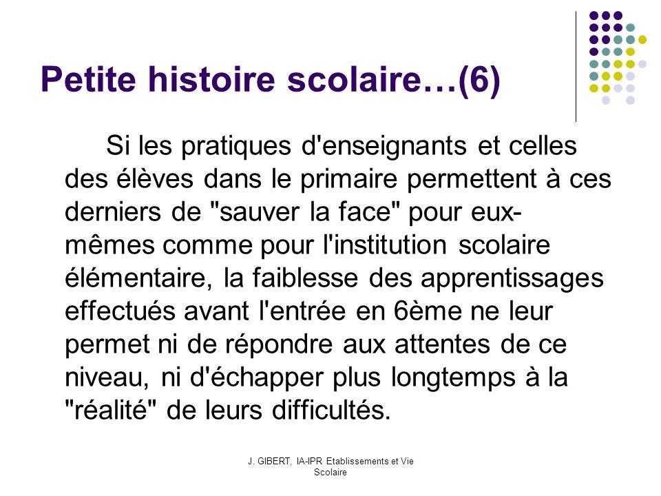 Petite histoire scolaire…(6)