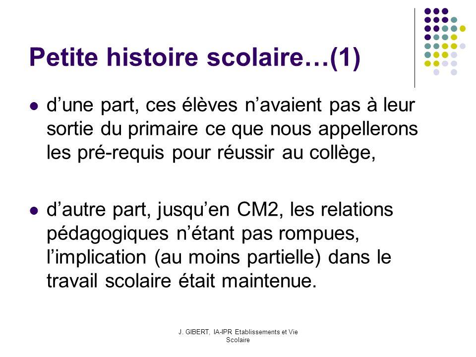 Petite histoire scolaire…(1)