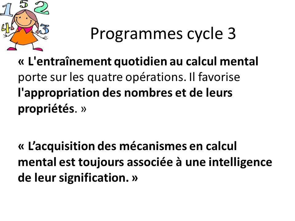 Programmes cycle 3