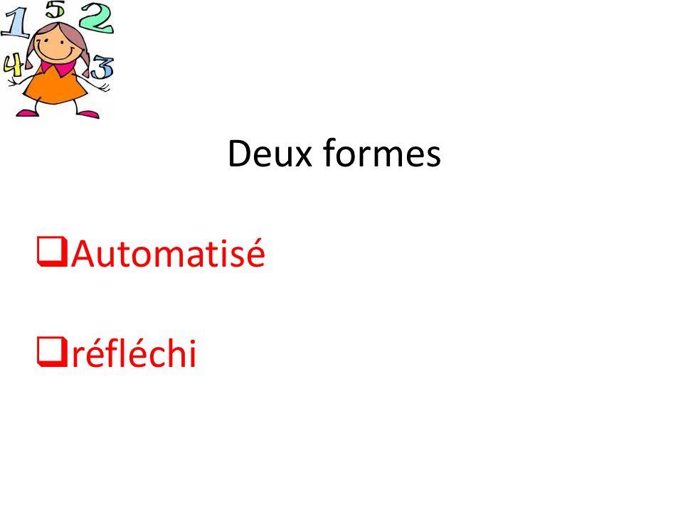 Deux formes Automatisé réfléchi