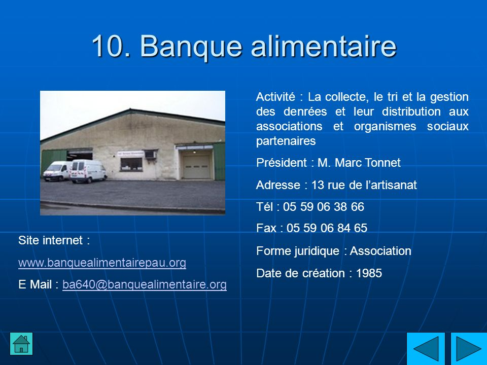 10. Banque alimentaire