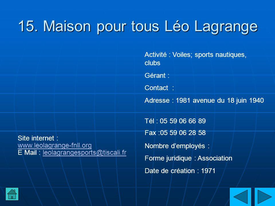15. Maison pour tous Léo Lagrange