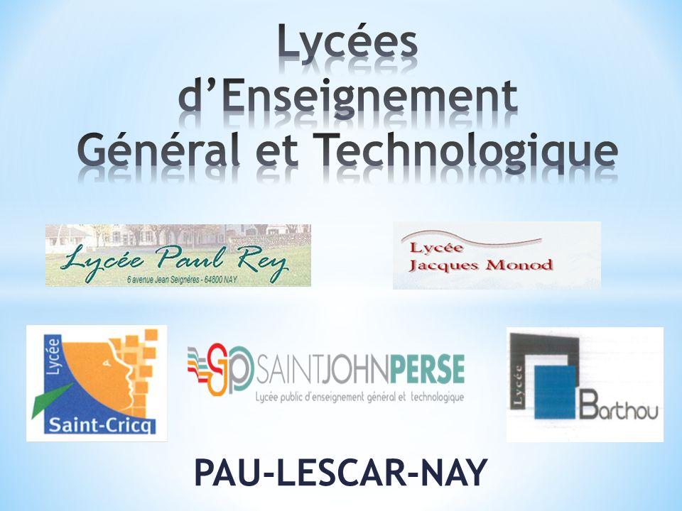 Lycées d'Enseignement Général et Technologique