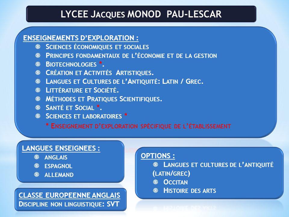 LYCEE Jacques MONOD PAU-LESCAR