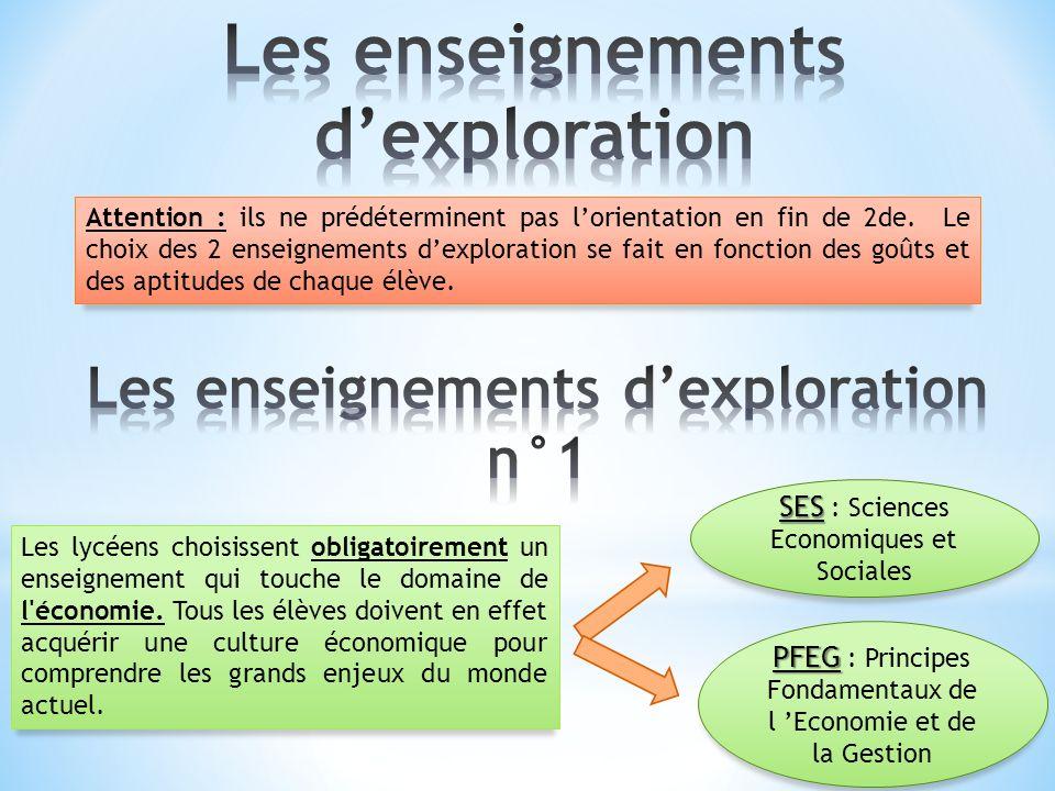 Les enseignements d'exploration n°1