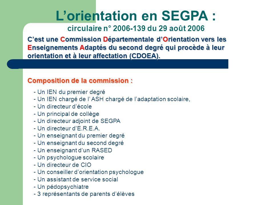 L'orientation en SEGPA :