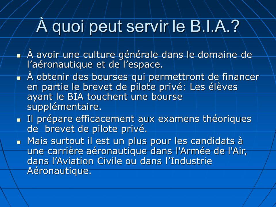 À quoi peut servir le B.I.A.