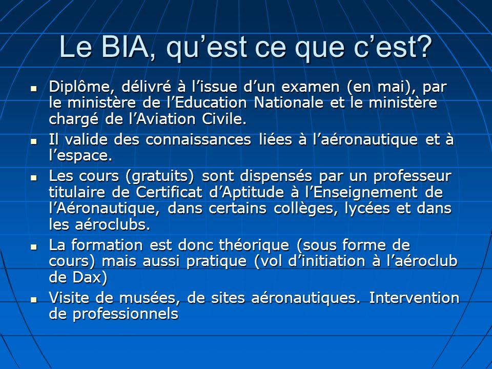 Le BIA, qu'est ce que c'est