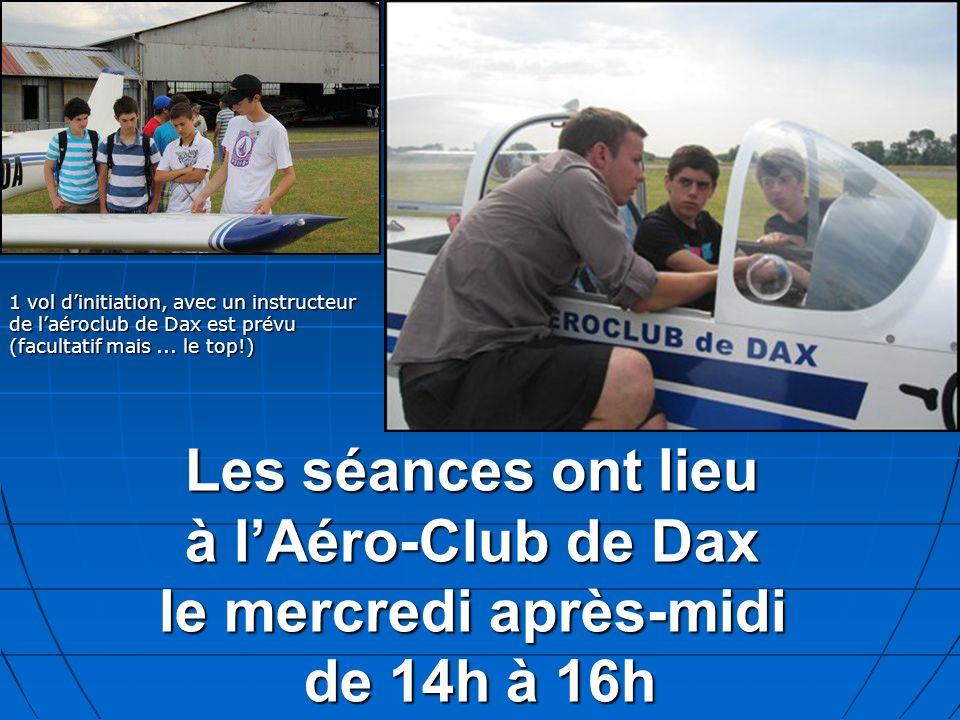 1 vol d'initiation, avec un instructeur de l'aéroclub de Dax est prévu (facultatif mais ... le top!)