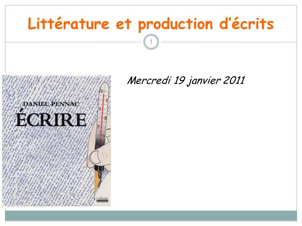 Littérature et production d'écrits