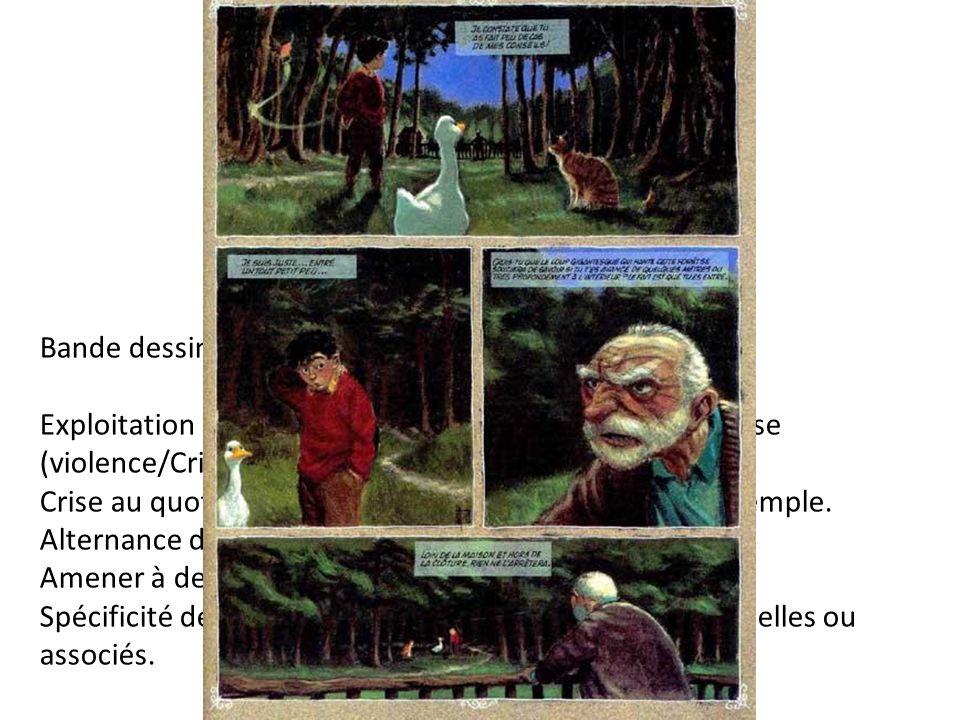 Bande dessinée Exploitation : thématiques liées à des situations de classe (violence/Crise/Société consommation).