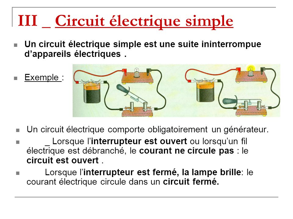 III _ Circuit électrique simple