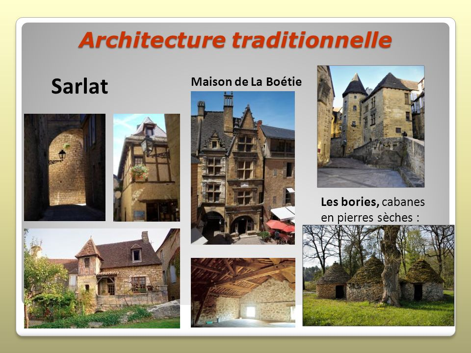 Architecture traditionnelle