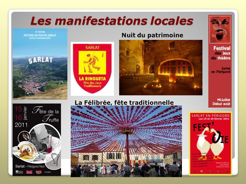 Les manifestations locales