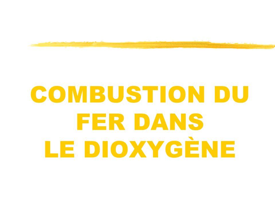 COMBUSTION DU FER DANS LE DIOXYGÈNE