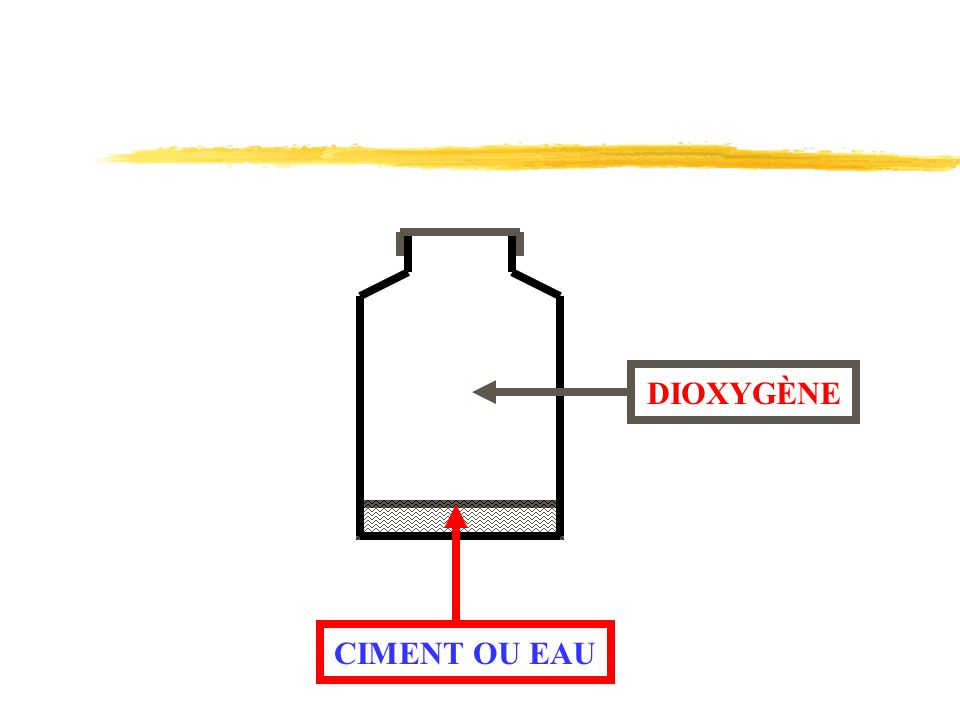 DIOXYGÈNE CIMENT OU EAU