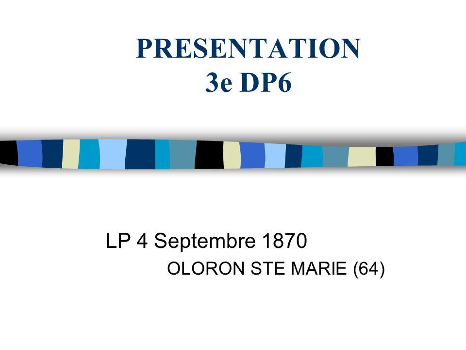 LP 4 Septembre 1870 OLORON STE MARIE (64)