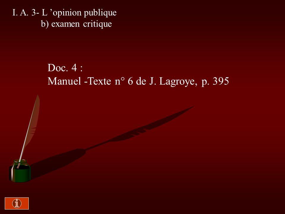 Manuel -Texte n° 6 de J. Lagroye, p. 395