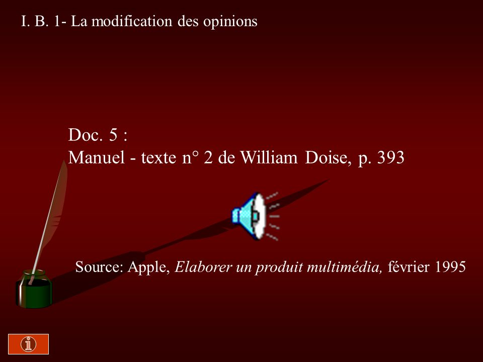 Manuel - texte n° 2 de William Doise, p. 393