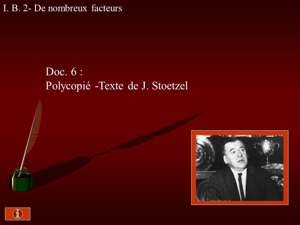 Polycopié -Texte de J. Stoetzel