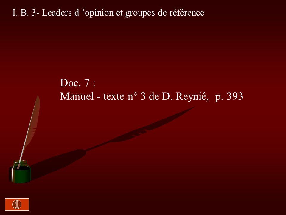 Manuel - texte n° 3 de D. Reynié, p. 393