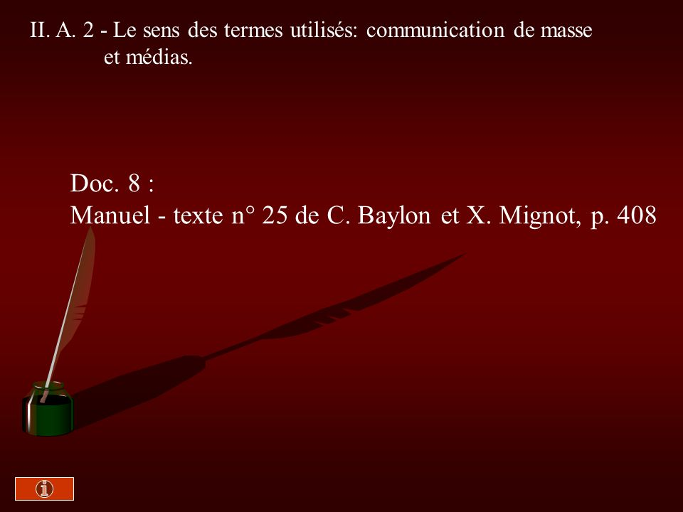 Manuel - texte n° 25 de C. Baylon et X. Mignot, p. 408