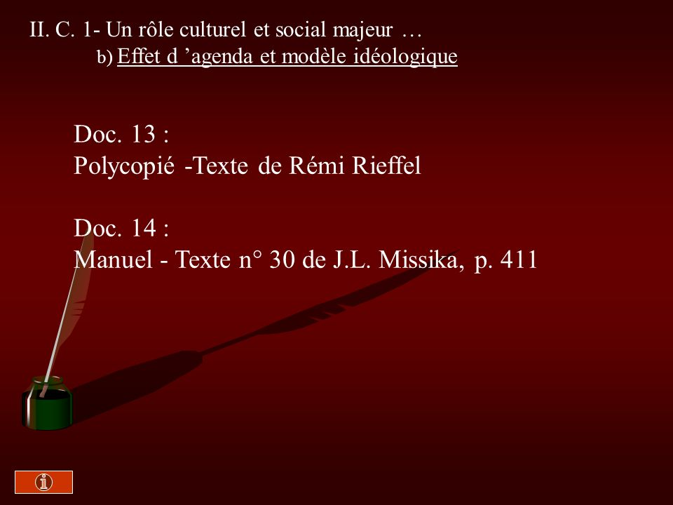 Polycopié -Texte de Rémi Rieffel Doc. 14 :