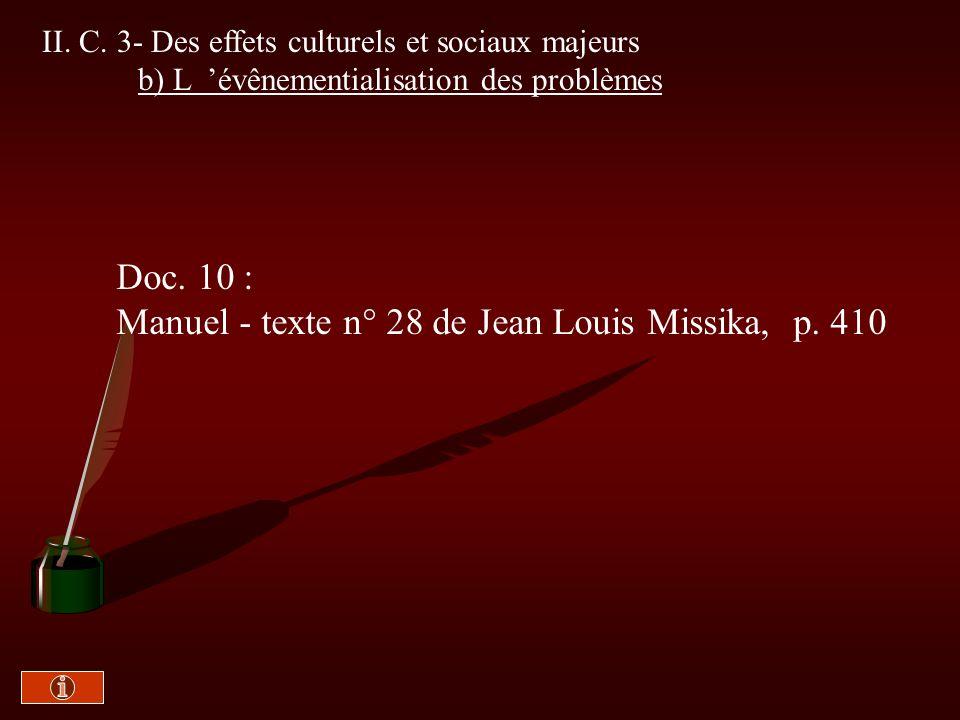 Manuel - texte n° 28 de Jean Louis Missika, p. 410