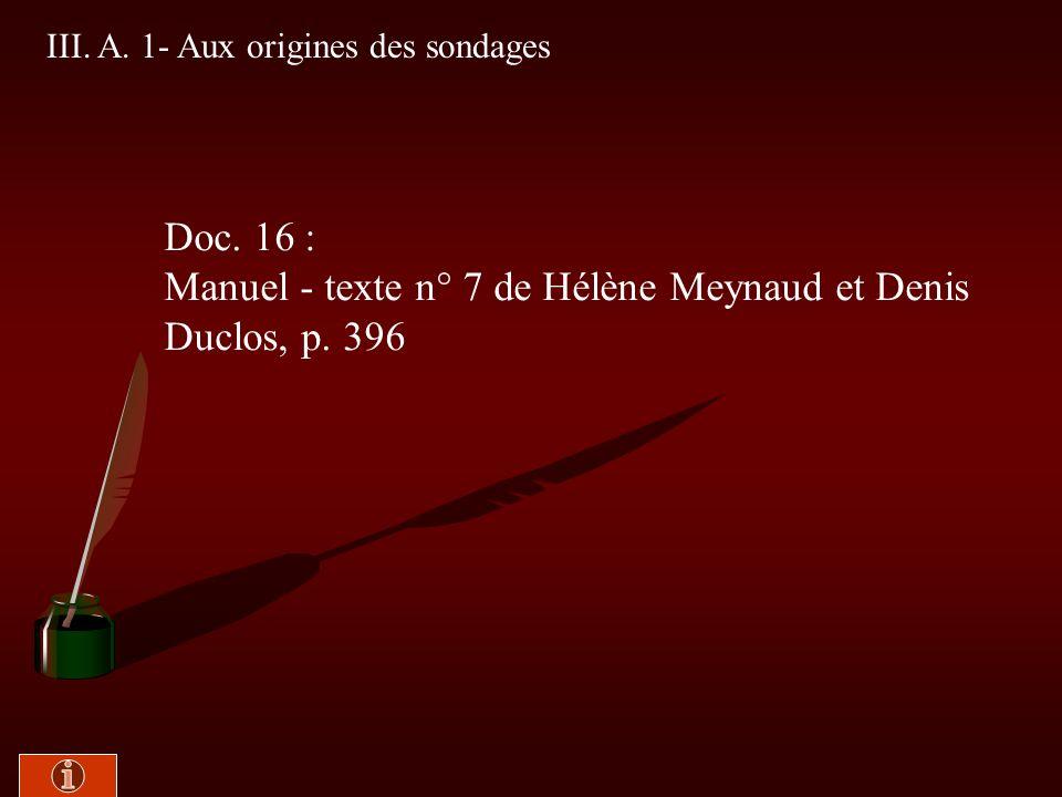 Manuel - texte n° 7 de Hélène Meynaud et Denis Duclos, p. 396