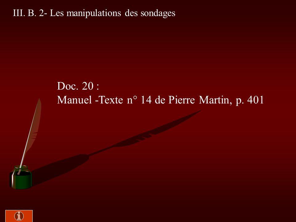 Manuel -Texte n° 14 de Pierre Martin, p. 401