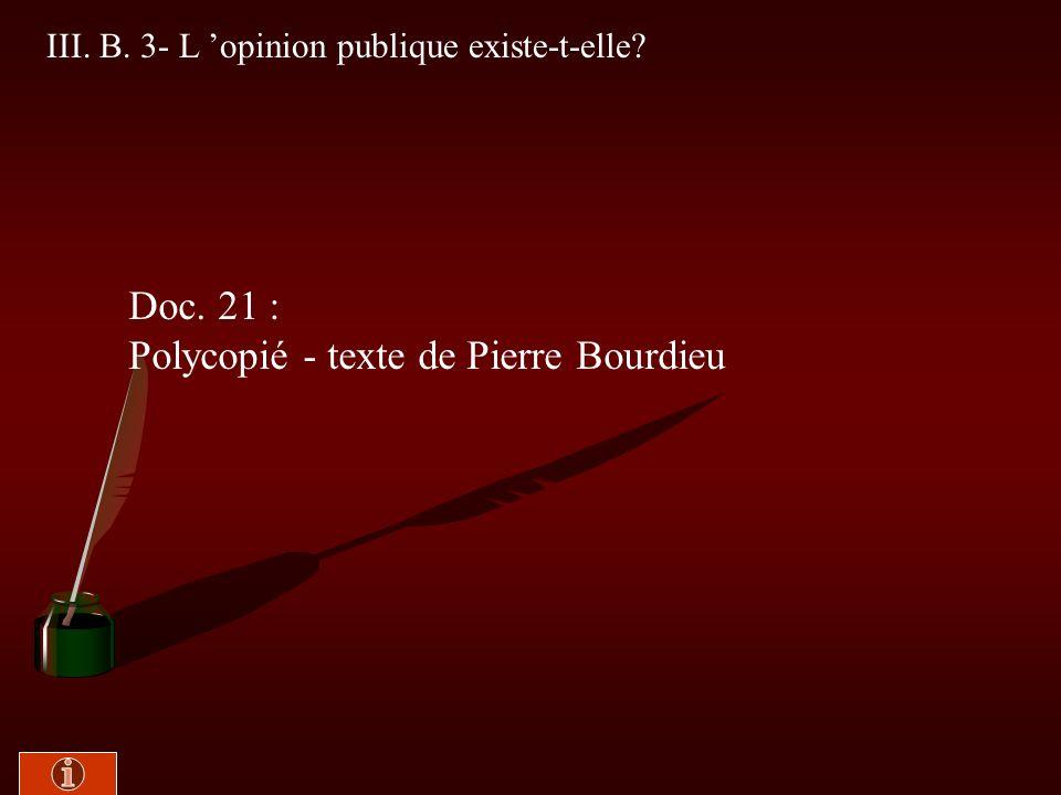 Polycopié - texte de Pierre Bourdieu