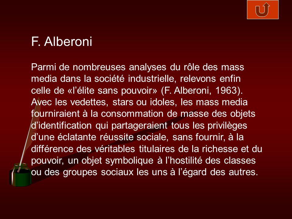 F. Alberoni
