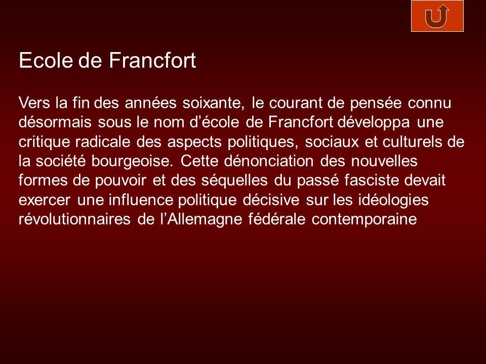 Ecole de Francfort