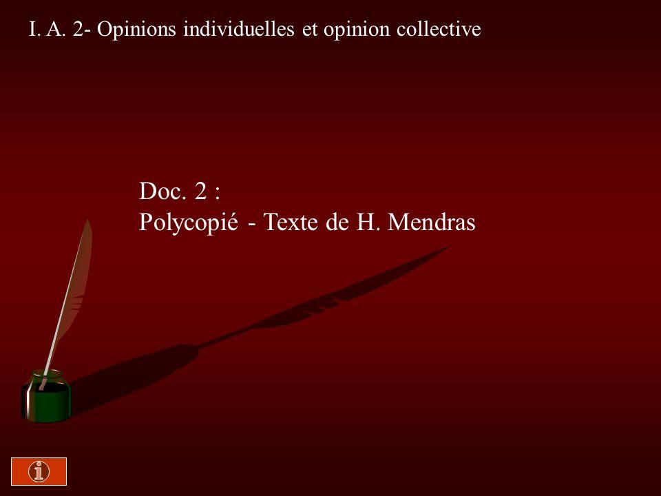 Polycopié - Texte de H. Mendras