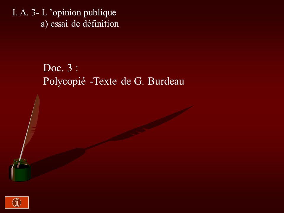 Polycopié -Texte de G. Burdeau