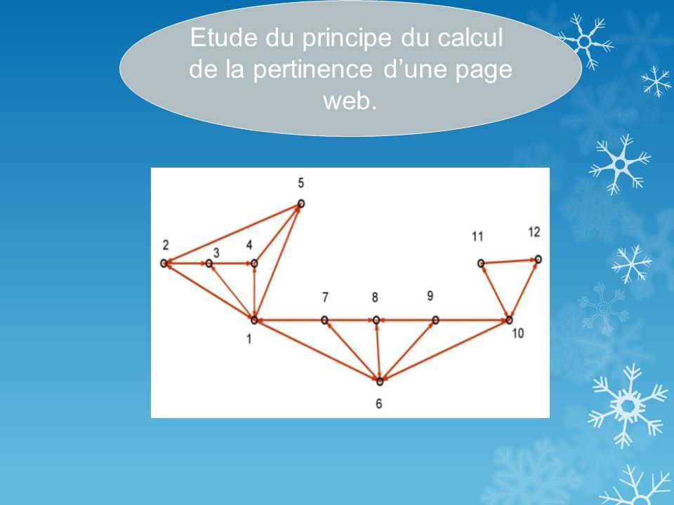 Etude du principe du calcul de la pertinence d'une page web.