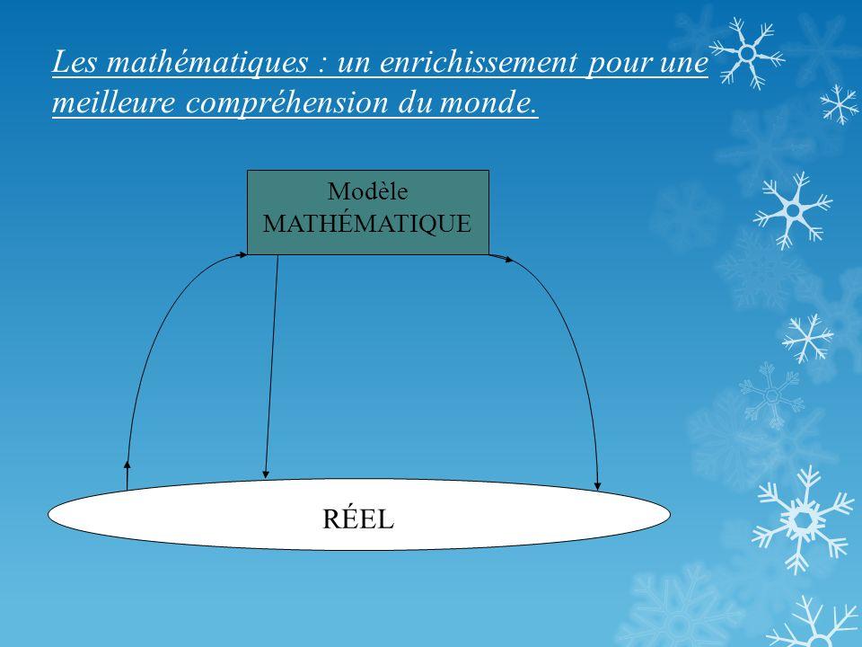 Les mathématiques : un enrichissement pour une meilleure compréhension du monde.