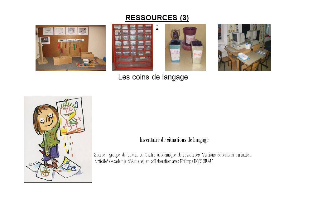 RESSOURCES (3) : Les coins de langage