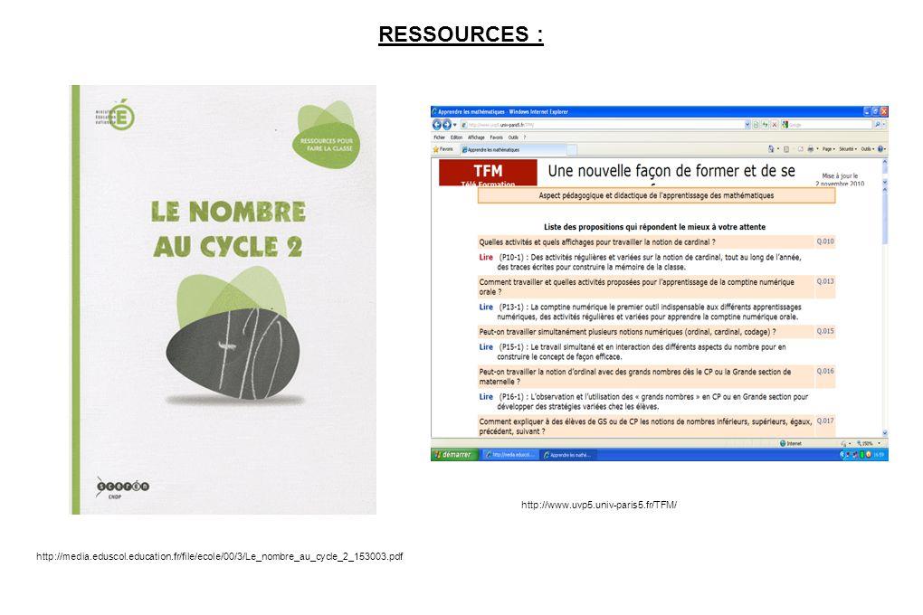 RESSOURCES : http://www.uvp5.univ-paris5.fr/TFM/
